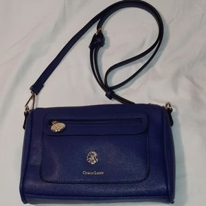 Christian Lacroix Navy Blue Purse Shoulder Bag